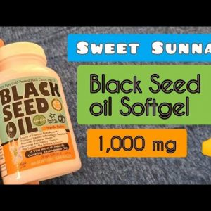 Black seed oil in capsule form from Sweet Sunnah