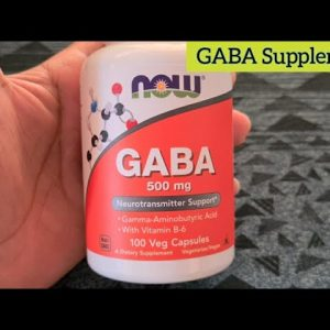 GABA supplement - helps you to be calm